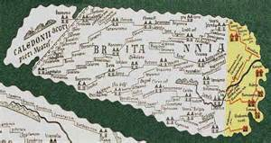 Early roman map of Britannia